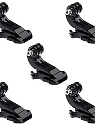 5 pcs / lot Gopro J Hook Buckle Clip J-hook Grief base for chest mountain strap for SJCAM xiaomi Gopro Hero 2 3 3  4 5Case accessories set