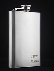 Personalized Stainless Steel  5-oz   Flask   Lettering Hip Flask