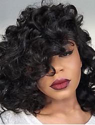 HOT!! Short Bob Curly Lace Front Wigs 8-30Inch Natural Black Color Brazilian Human Hair Wigs With Baby Hair For Women