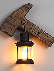 Single Head Industrial Vintage Retro Wooden Metal Painting Color Wall lamp for the Home / Hotel / Corridor Decorate Wall Light