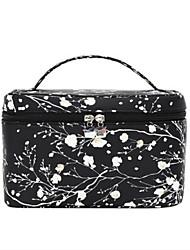 Women Cosmetic Bag Nylon All Seasons Casual Baguette Zipper Black
