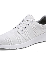 Herren Sneaker Komfort Leuchtende Sohlen Tüll Sommer Herbst Normal Komfort Leuchtende Sohlen Schnürsenkel Flacher Absatz Weiß Schwarz Pink