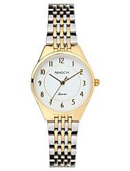 Mulheres Relógio de Moda Quartzo Impermeável Lega Banda Dourada