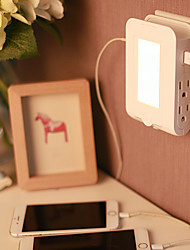 Intelligent Creative Home LED Light Control Night Light Double USB Bedside Charger