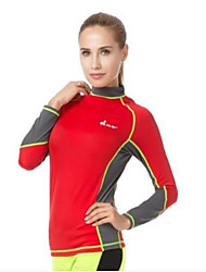 Women's Boating LYCRA® Diving Suit Long Sleeve Tops-Swimming Beach Surfing Sailing Watersports All Seasons Solid Classic Fashion
