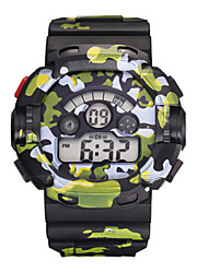 Men's Boys Sport Watch Digital Watch Digital Water Resistant / Water Proof Noctilucent Rubber Band Multi-Colored
