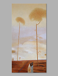 IARTS® Hand Painted Oil Painting Modern Farm Landscape Floral Abstract Art Acrylic Canvas Wall Art For Home Decoration