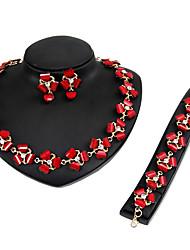 Mujer Juego de Joyas Collar / pulsera Los sistemas nupciales de la joyería Cristal Moda Euramerican Estilo Simple Clásico Resina
