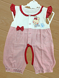 Baby Children's New Baby Cotton Baby Shower Stripe Clothing Set,Cartoon All Seasons