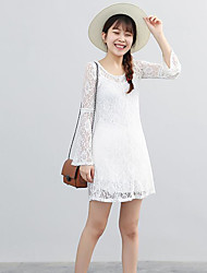 Women's Casual/Daily A Line Loose Dress,Solid Strapless Maxi Sleeveless Cotton Polyester Summer Mid Rise Micro-elastic Medium