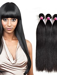 8A Peruvian Virgin Human Hair Straight Wave 3 Bundles Human Hair Weave Bundles Hair Products 300g