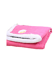 Cat Dog Bed Pet Blankets Solid Keep Warm Foldable Soft Rose Orange