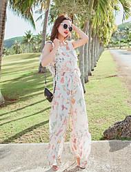 Feminino Simples Casual Macacão,Largo Fashion Verão
