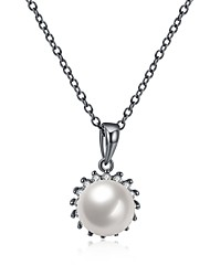 Women's Choker Necklaces Pendant Necklaces Cubic Zirconia Imitation Pearl AAA Cubic Zirconia Geometric IrregularImitation Pearl Zircon