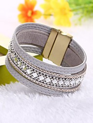 Women's Leather Bracelet Wrap Bracelet Fashion Classic Faux Leather Circle Jewelry ForWedding Party Engagement Gift Casual Evening Party