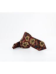 Homme Style floral Coton Cravate,Imprimé Toutes les Saisons