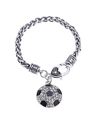 Lureme®Women's Chain Bracelet Diamond Natural Gothic Handmade Fashion Punk Magnetic Therapy DIY Rhinestones Alloy Circle Jewelry ForBirthday