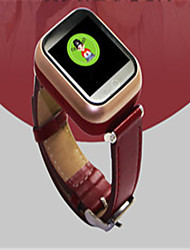 Kid's Smart Watch Digital Leather Band Red Brown