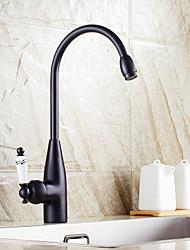 Centerset Ceramic Valve Oil-rubbed Bronze , Kitchen faucet