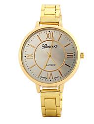 Mujer Reloj de Moda Reloj de Pulsera Reloj Casual Chino Cuarzo / Aleación Banda Caramelo Casual Elegantes Plata Dorado Oro Rosa
