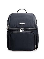 Unisex Functional Bags Nylon All Seasons Casual Rectangle Zipper Black