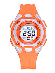 Kid's Sport Watch Fashion Watch Quartz Water Resistant / Water Proof Rubber Band Blue Orange
