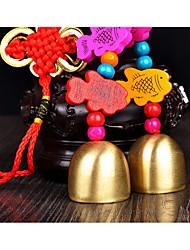 Sac / téléphone / keychain charme jingle bell cartoon jouet style chinois métal en bois