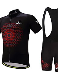 Cycling Jersey with Bib Shorts Men's Bike Clothing Suits Anti-slip Strap Well-ventilated Wicking Softness Spring/Fall Summer Cycling/Bike