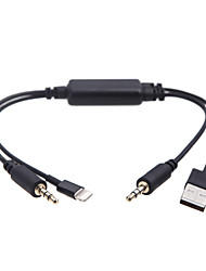 KKmoon Car Auto USB 3.5MM AUX Adapter Interface Cable for BMW MINI Cooper for iPod iPhone 5 5S 5C
