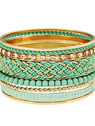 Femme Bracelets Rigides Mode bijoux de fantaisie Alliage de métal Résine Forme de Cercle Bijoux Pour Quotidien Rendez-vous Plein Air
