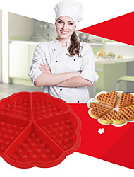 Silicone Waffle Mold Maker Pan Microwave Baking Cookie Cake Muffin Bakeware Cooking Tools Kitchen Accessories Supplies