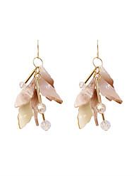 Fashion Women Irregularity Acrylic Lead Drop Earrings