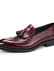 Для мужчин обувь Кожа Весна Осень Формальная обувь Свадебная обувь Назначение Свадьба Для вечеринки / ужина Черный Вино