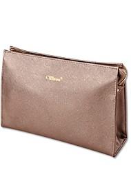 Damen Kosmetik Tasche PU Ganzjährig Normal Baguette Bag Reißverschluss Weiß Kaffee Pink-violett