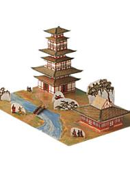 Jigsaw Puzzles DIY KIT 3D Puzzles Building Blocks DIY Toys Famous buildings Chinese Architecture