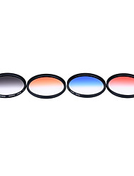Andoer Professional 67mm GND Graduated Filter Set GND4(0.6) Gray Blue Orange Red Graduated Neutral Density Filter