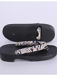 Femme Sabots & Mules Sabots & Mules Coton Tissu Printemps Automne Décontracté Gris Moins de 2,5 cm