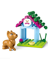 Building Blocks For Gift  Building Blocks Dog House Plastics 6 Years Old and Above Toys