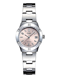 Casio Watch Pointer Series Steel Belt Fashion Leisure Business Quartz Lady Watch LTP-1241D-4A3