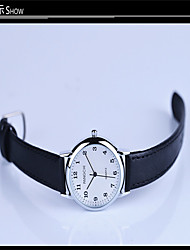 Women's Fashion Watch Quartz PU Band Black