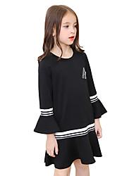 Girl's Solid Dress Fall Long Sleeve