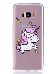 Caso para la galaxia s8 de Samsung más patrón transparente s8 cubierta trasera unicornio animal suave tpu s7 borde s7