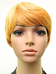 Woman Blonde Straight Hair Short Synthetic Wig Heat Resistant High Temperature Fiber