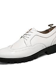 Для мужчин обувь Лакированная кожа Полиуретан Лето Осень Формальная обувь Свадебная обувь Шнуровка Назначение Повседневные Для вечеринки