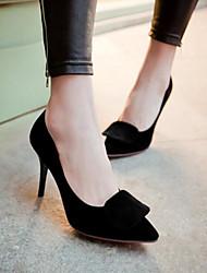 Damen Schuhe PU Sommer Komfort High Heels Mit Für Normal Schwarz Rot