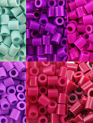 Approx 500PCS/Bag 5MM Perler Beads Fuse Beads Hama Beads EVA Material Safty for Kids (Assorted B38-B43)