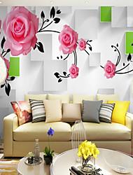 Ар деко 3D Цветы Обои Для дома Современный Пастораль Стиль Облицовка стен , Холст материал Клей требуется фреска , Обои для дома