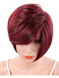 Pelucas sintéticas Sin Tapa Corto Sandía Roja Peluca natural Las pelucas del traje