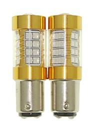 Sencart 2pcs 1157 ampoule clignotante conduit la voiture arrière tournez les ampoules arrière (blanc / rouge / bleu / blanc chaud) (dc /