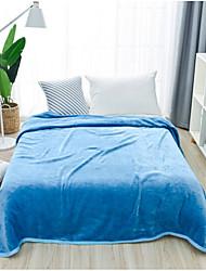 Velocino de Coral Sólido Poli / algodão cobertores